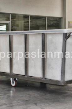 Köşeli tekstil taşıma arabası